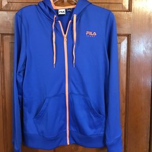 NWOT, very cute love the colors, FILA Zip up front